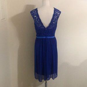 David's Bridal Dresses - David's Bridal Blue lace bridesmaid dress size 18